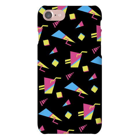 Black 80s/90s Pattern Phone Case
