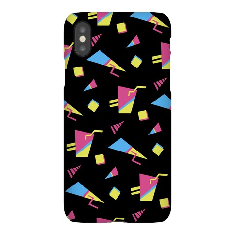 Black 80s/90s Pattern Phone Case