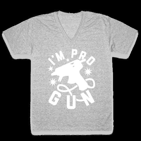 I'm Pro Glue Gun V-Neck Tee Shirt