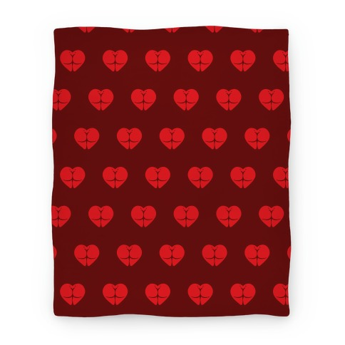 Butt Heart Blanket (Dark) Blanket
