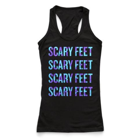 scary feet scary feet text racerback tank lookhuman