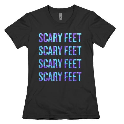 scary feet scary feet text t shirt lookhuman