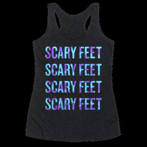 Scary Feet Scary Feet (Text) Racerback Tank Top