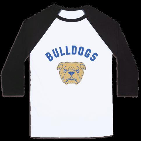 Bulldogs Blue & gold Baseball Tee