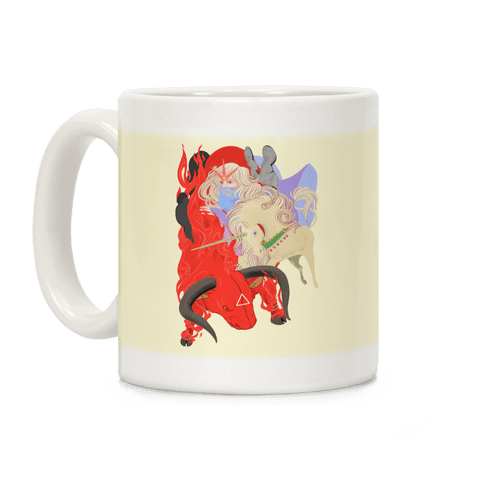 The Last Unicorn And The Red Bull Coffee Mug