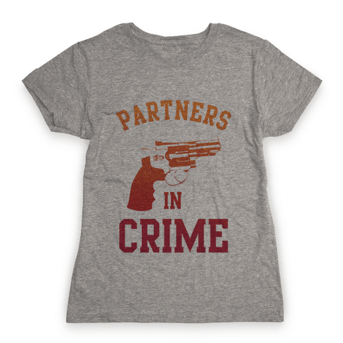 Partners in Crime (Red) Womens T-Shirt