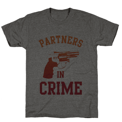 Partners in Crime (Red) Mens T-Shirt