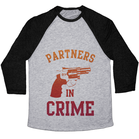 Partners in Crime (Red) Baseball Tee