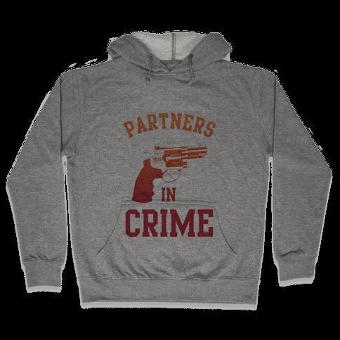 Partners in Crime (Red) Hooded Sweatshirt