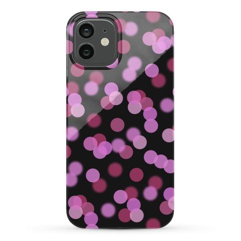 Pink Glitter Bokeh Pattern Phone Case