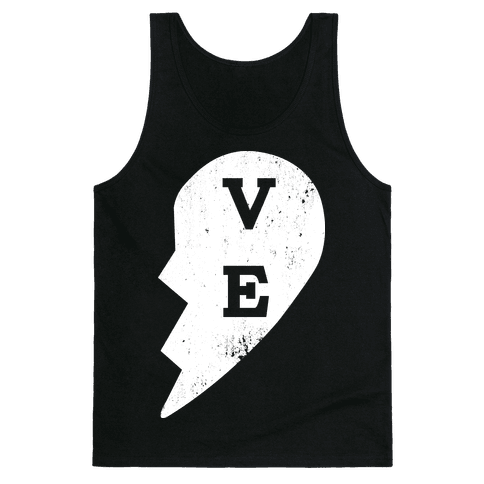 "Love ""ve"" Couples Shirt Tank Top"