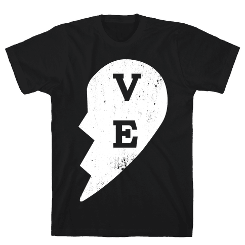 "Love ""ve"" Couples Shirt Mens T-Shirt"