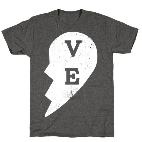 "Love ""ve"" Couples Shirt T-Shirt"