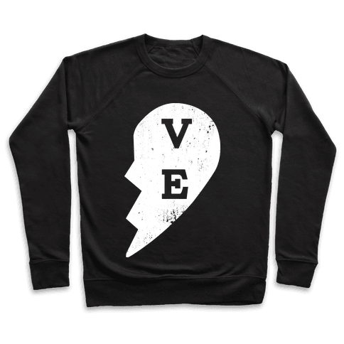 "Love ""ve"" Couples Shirt Pullover"