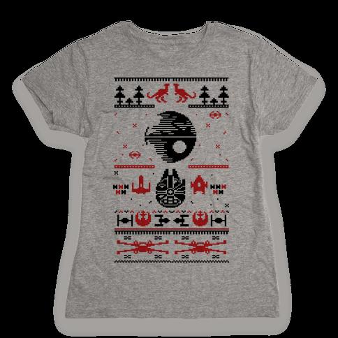 Scifi Christmas Sweater Womens T-Shirt