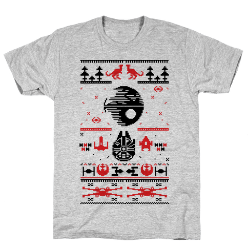 Scifi Christmas Sweater Mens T-Shirt