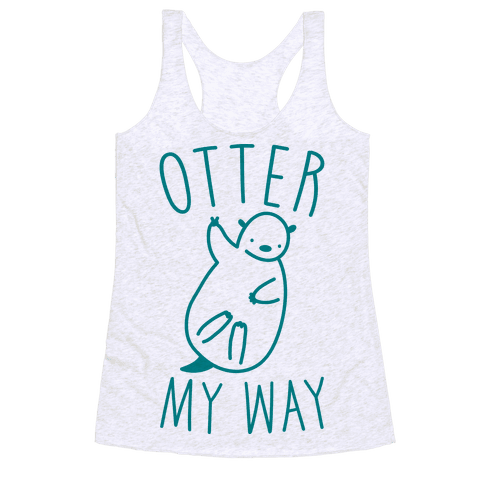 Otter My Way Racerback Tank Top
