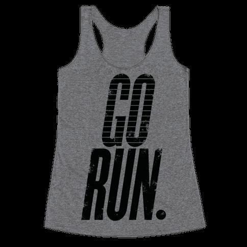 Go Run Racerback Tank Top