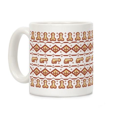 Dicks and Butts Ugly Sweater Pattern Coffee Mug