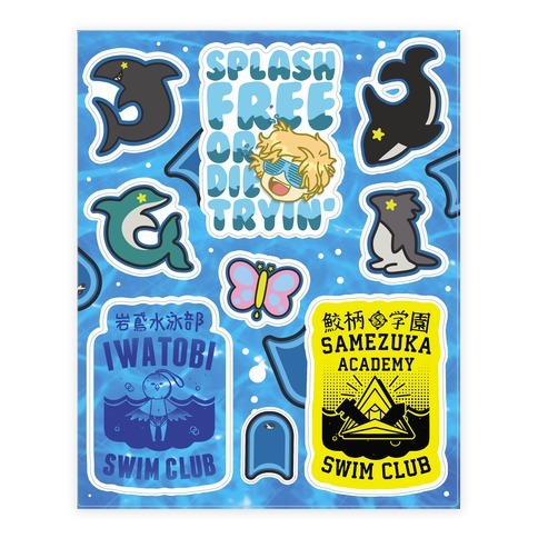 Iwatobi FREE!  Sticker/Decal Sheet