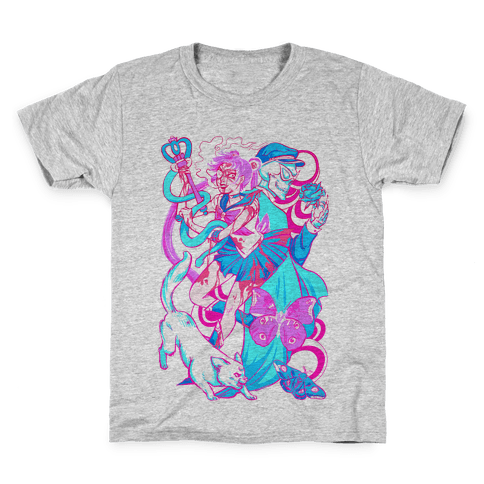 Rainbow Horror Senshi Parody Kids T-Shirt