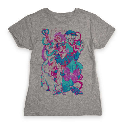 Rainbow Horror Senshi Parody Womens T-Shirt