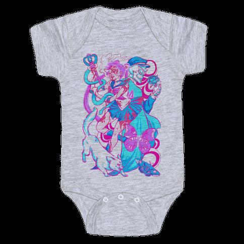 Rainbow Horror Senshi Parody Baby Onesy