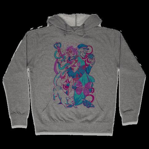 Rainbow Horror Senshi Parody Hooded Sweatshirt