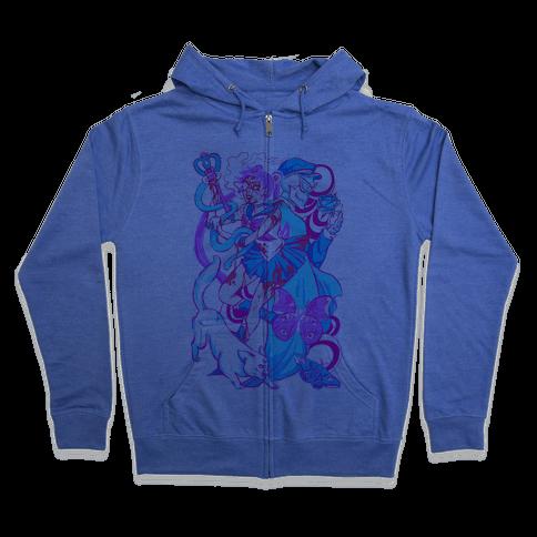 Rainbow Horror Senshi Parody Zip Hoodie