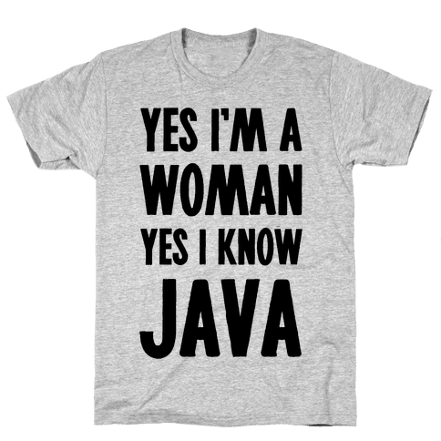 Yes I am a Woman Yes I Know Java Mens T-Shirt