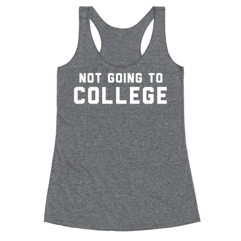 Anti-College (Vintage) Racerback Tank Top