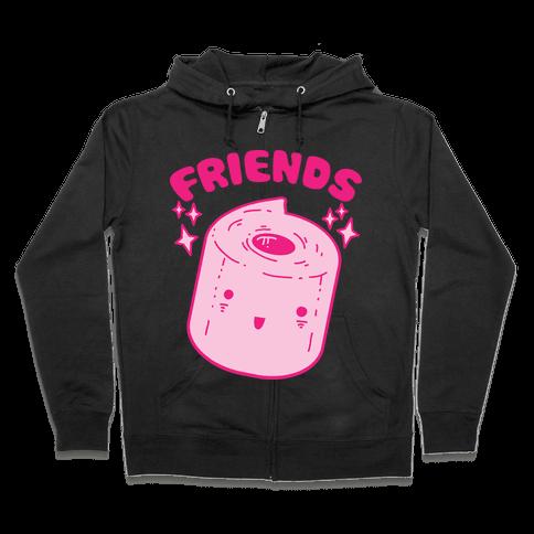 Best Friends TP & Poo (Toilet Paper Half) Zip Hoodie