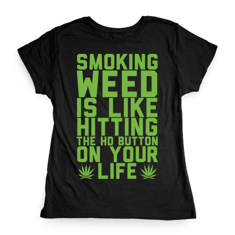 Smoking Weed Is Like Hitting The HD Button On Your Life Womens T-Shirt