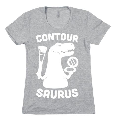 Contoursaurus Womens T-Shirt