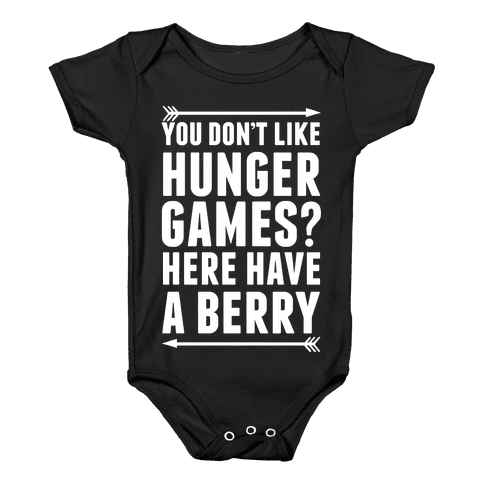 You Don't Like Hunger Games? Here Have A Berry Baby Onesy