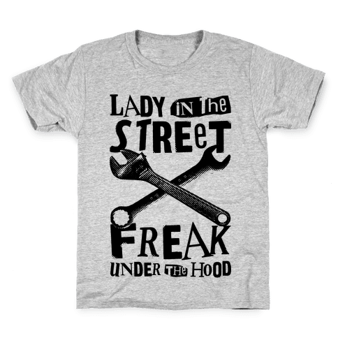 Lady In The Streets Freak Under The Hood Kids T-Shirt