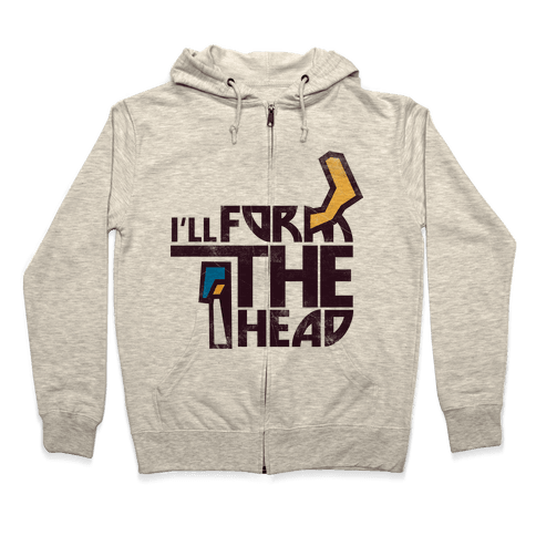 I'll Form the Head (vintage) Zip Hoodie