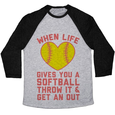 Throw It & Get An Out Baseball Tee