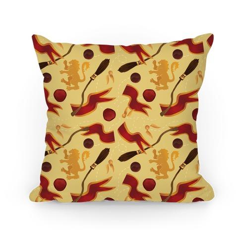Quidditch Pattern (Gryffindor Pride) Pillow