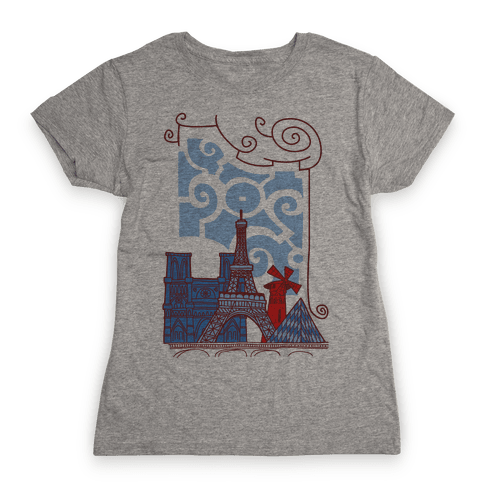 The City of Love Womens T-Shirt