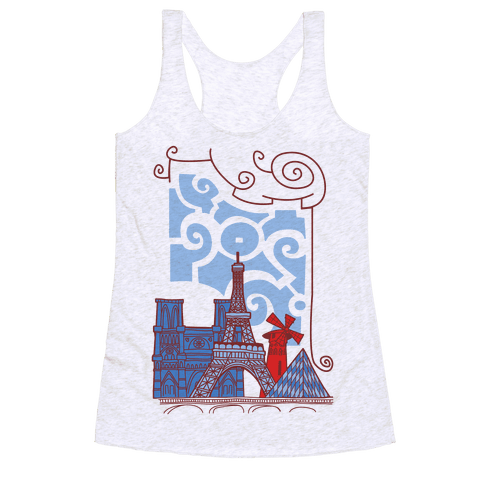 The City of Love Racerback Tank Top