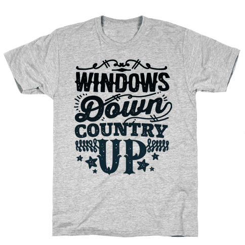 Windows Down Country Up Mens T-Shirt