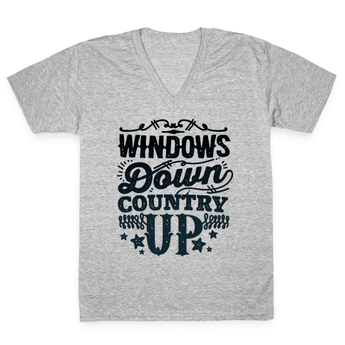Windows Down Country Up V-Neck Tee Shirt