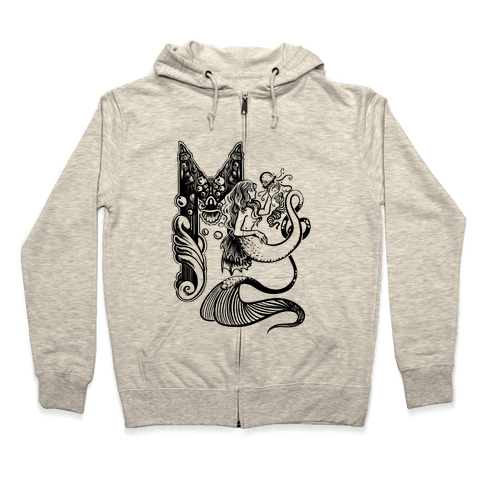 Illuminated M (Mermaid) Zip Hoodie