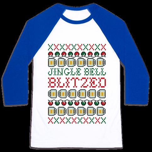 Jingle Bell Blitzed Baseball Tee