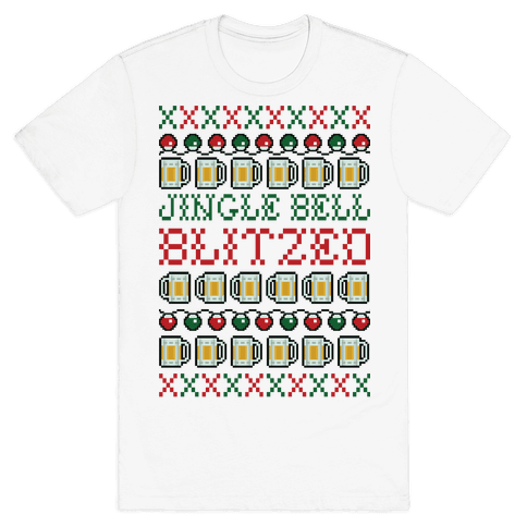 Jingle Bell Blitzed Mens T-Shirt