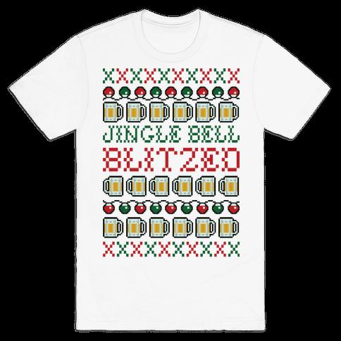 Jingle Bell Blitzed Mens T-Shirt
