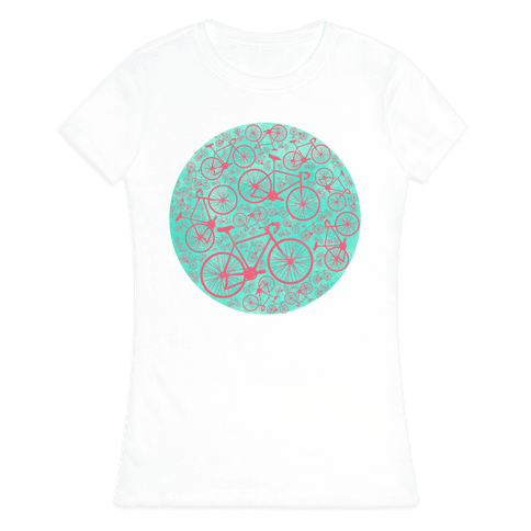 All Bikes Go Full Circle Womens T-Shirt