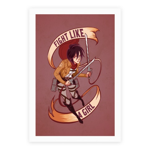 Mikasa: Fight Like a Girl Poster