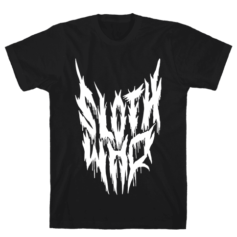 Sloth Who (Metal) Mens T-Shirt